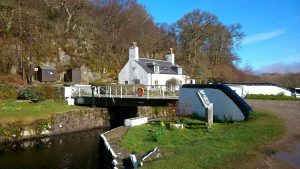 Loch-keeper's cottage - at Crinan Bridge on Crinan Canal